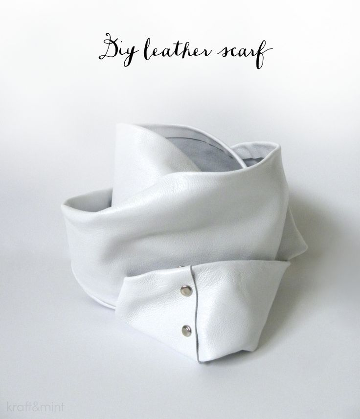 leather scarf !