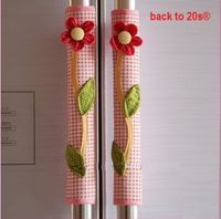 Amazon.com - Backto20s® Twin Pack Refrigerator Handle Covers (Flower Red) - Decorative Signs