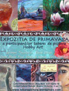 Expozitia de pictura a participantilor la Tabara de picturea Hobby Art organizata de Arbex Art Decor
