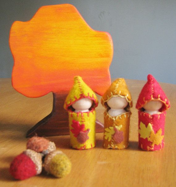Fall Waldorf Nature Table play set in Autumn by OakTreeVibrations, $20.00