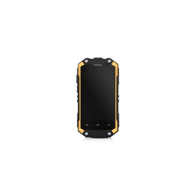 Auto Hightech Smartphone Etanche 2 45 Pouces Avec Android 5 1 Quad Core 3g Et 8 Go De Rom Orange Quad Smartphone Et Androide