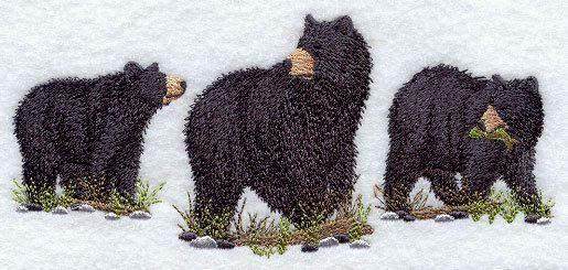 Trío de oso negro americano bordado cocina por forgetmeknottreasure