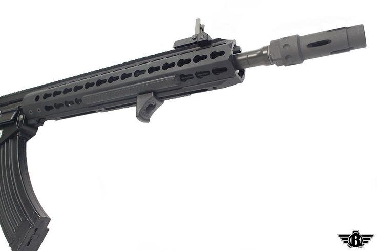"BR47KEYQDC-R-120B - BOLT 13"" Keymod BR47 B.R.S.S. AEG Enhanced Black Rifle Airsoft Gun"