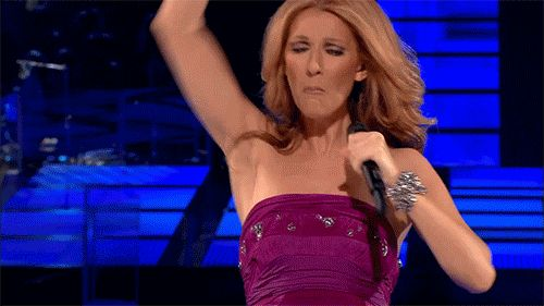 This classic move that always makes you feel like you got sucker punched by the glory of an angel. | Community Post: 30 Times You Were Reminded That Celine Dion Is The Best Singer In The World