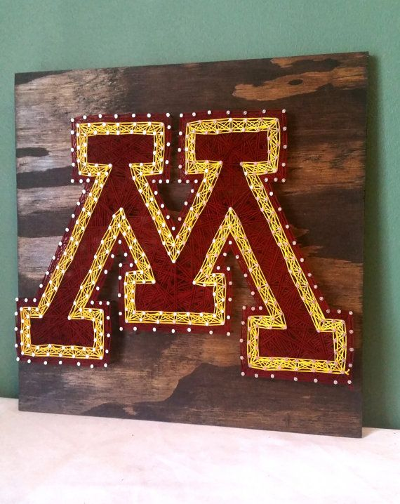 University of Minnesota String Art Sign Gophers by RubyOwlDesigns