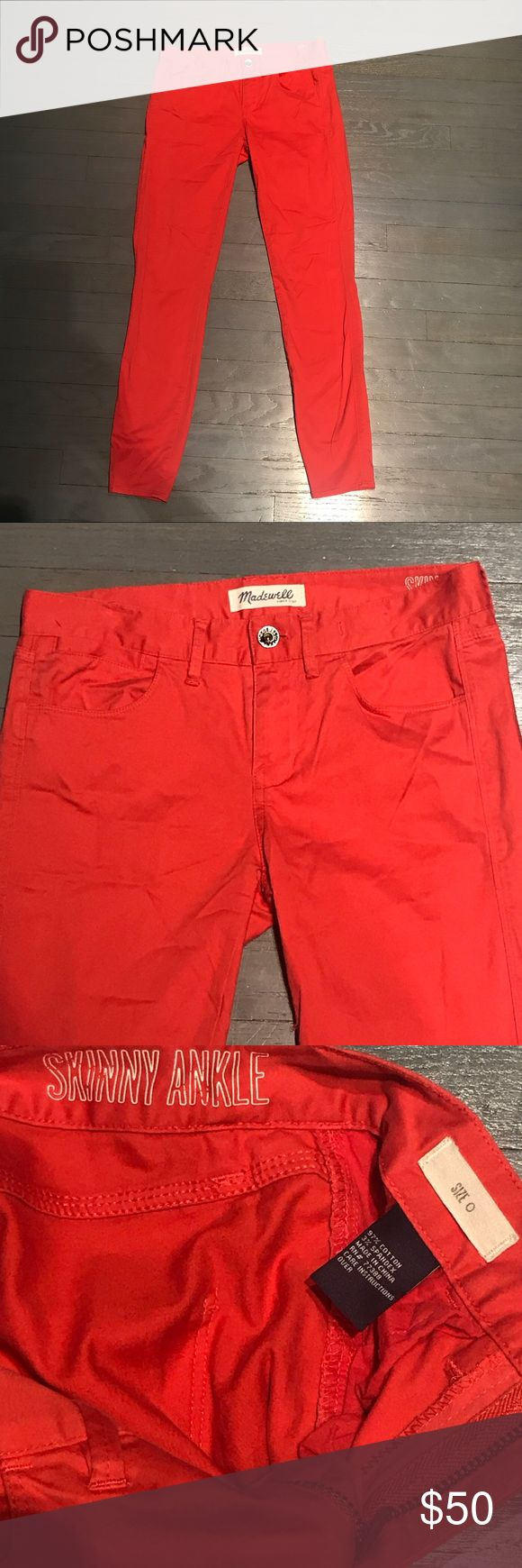 Madewell Skinny Ankle Nantucket Red Jeans Madewell Skinny Ankle Nantucket Red Jeans Madewell Jeans Skinny
