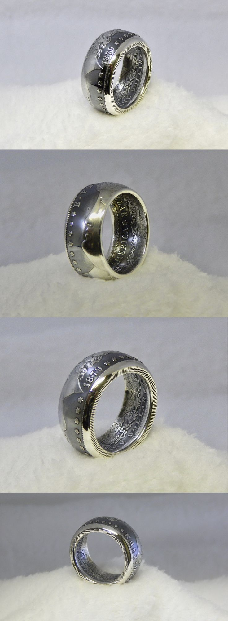 Rings 110666: Beautiful Custom Mens 1879 Morgan Silver Dollar Ring 90% Silver .Size 12 1 2 -> BUY IT NOW ONLY: $99 on eBay!