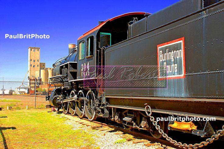 "Wichita Falls Burlington ""Black Train"" Downtown Wichita Falls, Texas by PaulBritPhoto on Etsy"