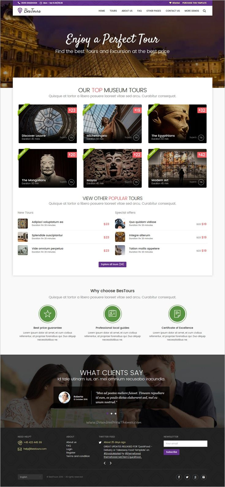 BESTOURS is a clean and modern design responsive 4in1 #Bootstrap template for Tours, #Excursions and #Travel agencies website download now➩ https://themeforest.net/item/bestours-tours-excursions-and-travel-multipurpose-template/18956733?ref=Datasata