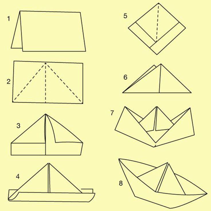 Basteln Am Kindergeburtstag Die 7 Besten Ideen Focusde: Die 25+ Besten Ideen Zu Origami Schiff Auf Pinterest