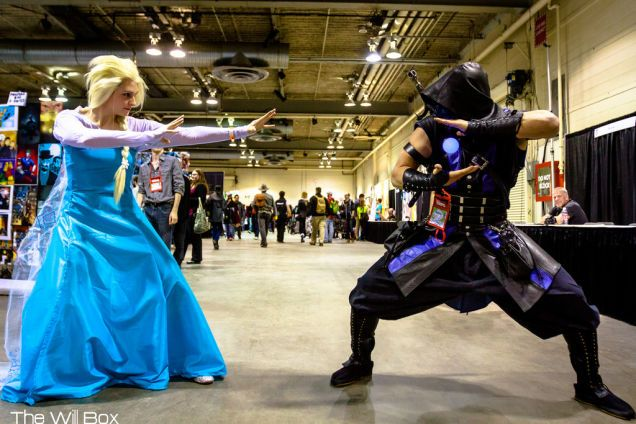 Frozen vs mortal kombat best. cosplay. ever.