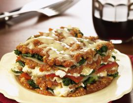 """""""Many people don't know that the crock inside a slow cooker is ovenproof and you can transfer a dish like lasagna into the oven (up to 400°F) for 10 minutes to brown the top,"""" says Golino. Just be sure the pot is hot, to avoid drastic temperature changes that can cause it to crack. Spinach Lasagna, 4.0 out of 4 based on 2 ratings"""