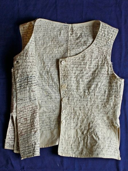 Embroidered diary/tales on women's under garments ~ le caraco de Renée