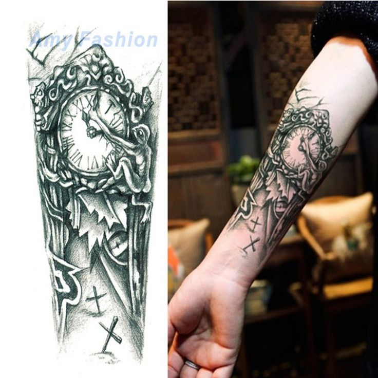 New Waterproof Flower Tattoo 3D Tattoo Sticker Mechanical Tattoo Male Women Body Paint Temporary Body Rocker…