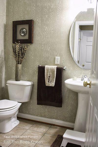 70 best Stenciled Bathrooms images on Pinterest