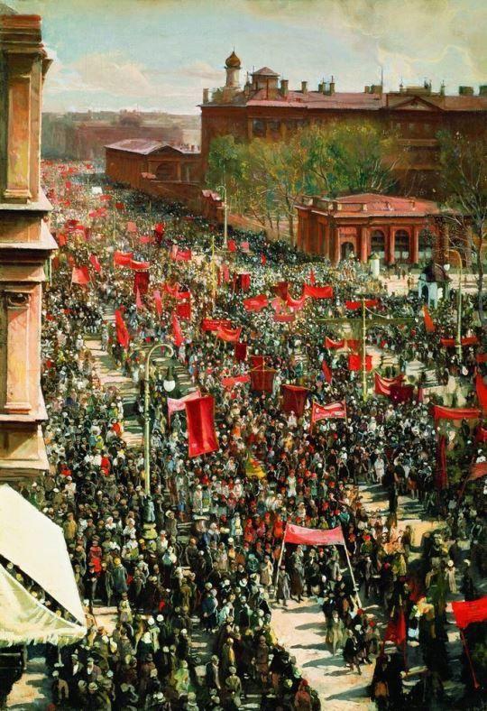 Исаак Бродский. «Демонстрация». 1934 г.