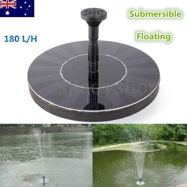 Solar Panel Power Water Floating Pump Pond Pool Fountain 400 x 300
