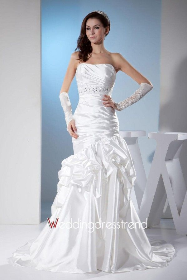 Wholesale and Retail Magnificent Strapless Mermaid Taffeta Wedding Dress - the Best Wedding Dress Wholesale and Retail Online Store