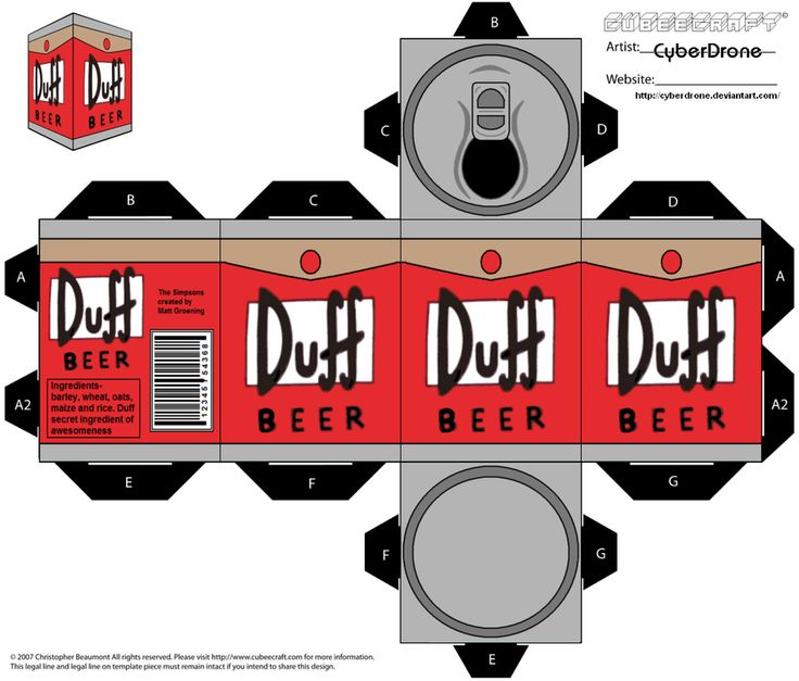 Cubee - Duff Beer by CyberDrone.deviantart.com on @deviantART