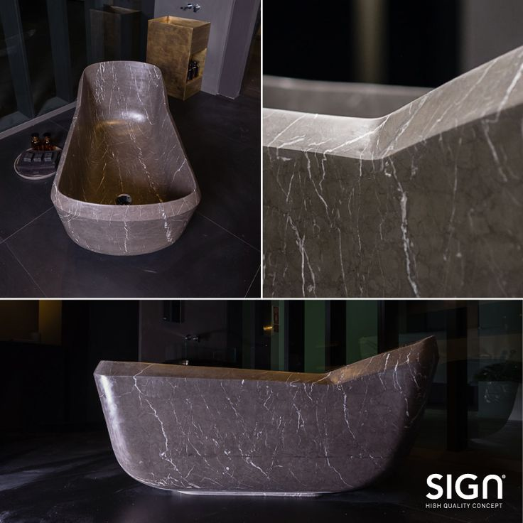 This beauty at Salone Internazionale del Bagno ❤ Our new bathub CHARLOTTE. #natural #stone #salonedelmobile