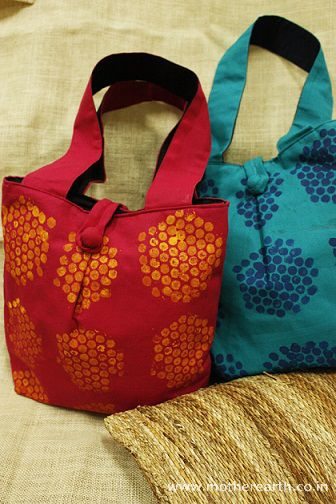 Bubble print Fabric Bags MRP Rs 349