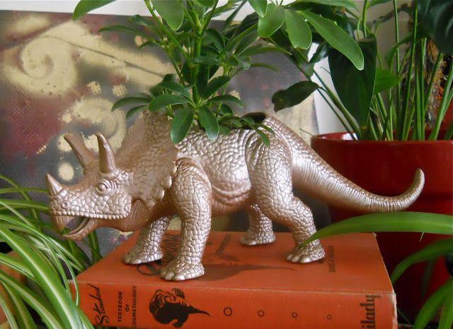 animal toy planter