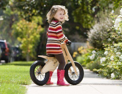 Adjustable Toddler Bike Premium 12in Transition Balance Bicycle 100% Wood Frame
