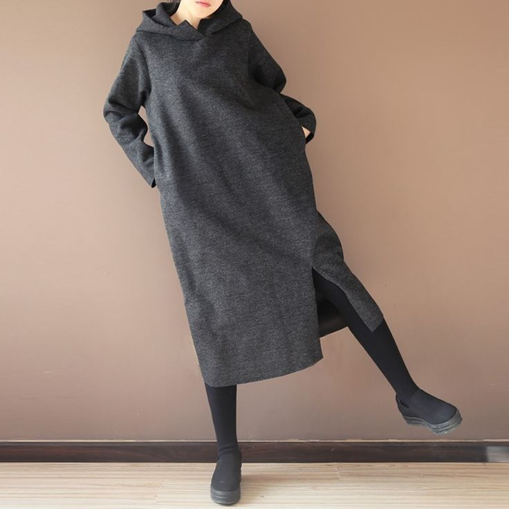 Cheap hoodie sweatshirt dress, Buy Quality hood hoodie directly from China hoodie sweatshirt Suppliers: ZANZEA Womens Oversized Long Sleeve Hooded Hoodies Sweatshirt Dress Winter Warm Side Split Casual Baggy Tops Pullover Kaftan