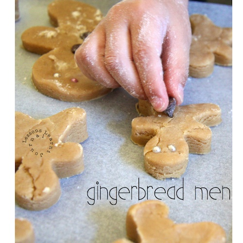 "Delicious easy gingerbread men. (Get ready for the ""Is it ready yet?"" questions.)"