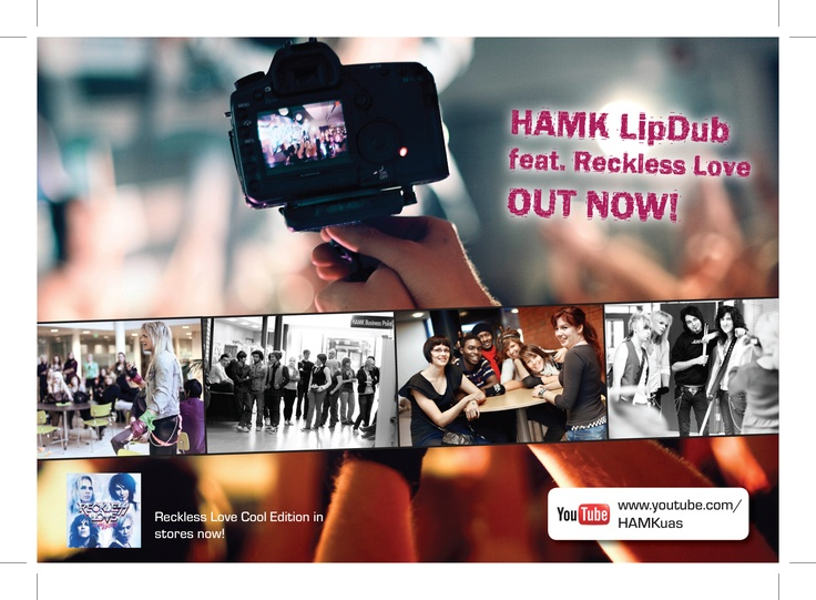 Postcard on the release of HAMK LipDub feat. Reckless Love