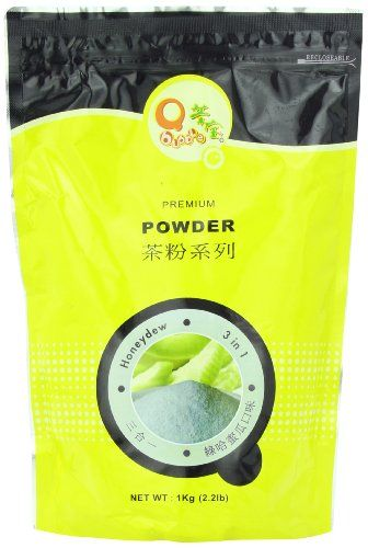 Qbubble Tea Honeydew Powder, Green, 2.2 Pound -- Click image to read more details.