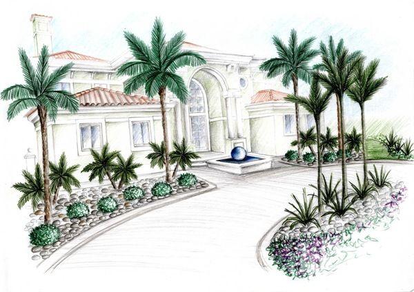Subtropical Gardens - Sketches Portfolio by Silvia Sacramento, via Behance