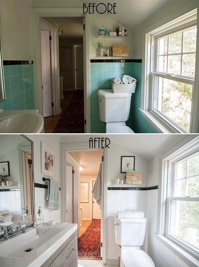 A Bathroom Makeover With Rust Oleum Bathroom Wall Tile Diy Bathroom Makeover Bathroom Makeover Bathroom diy cosmetic makeover advice
