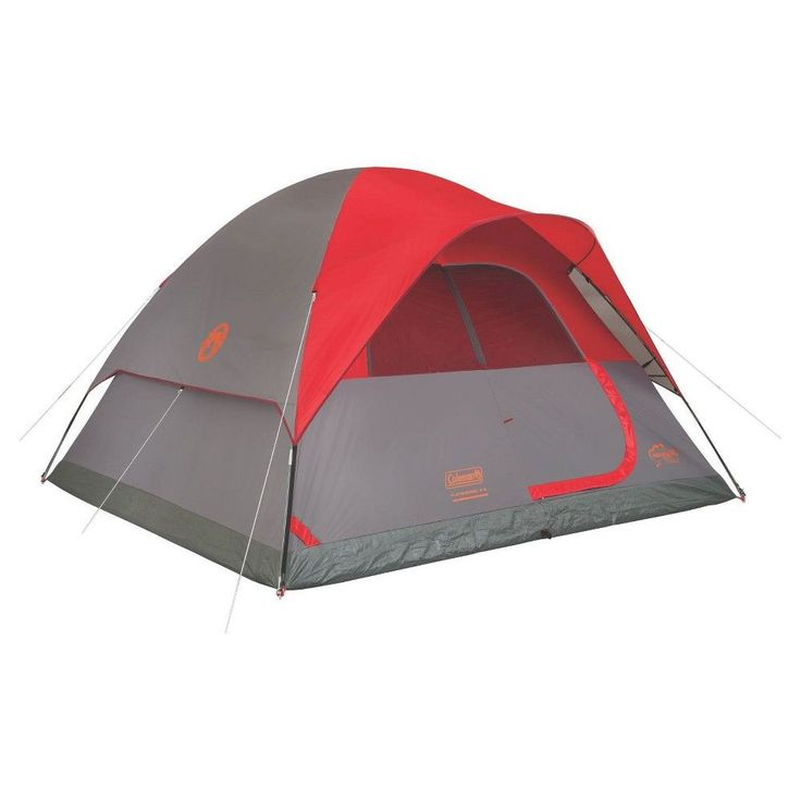 Coleman Flatwoods Ii 6 Person Dome Tent Red Tent