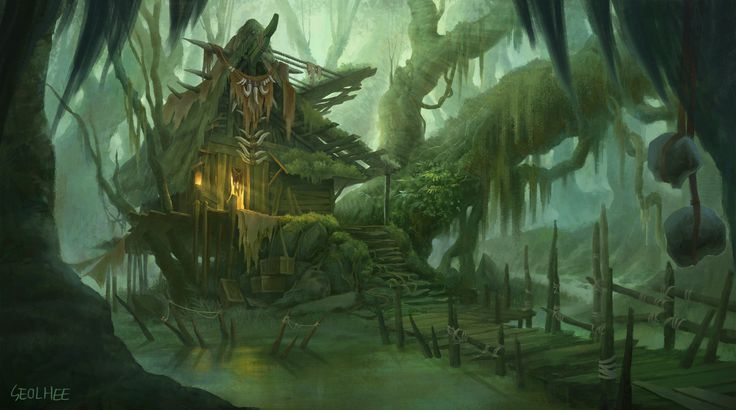 artstation witchs house in a swamp seolhee park