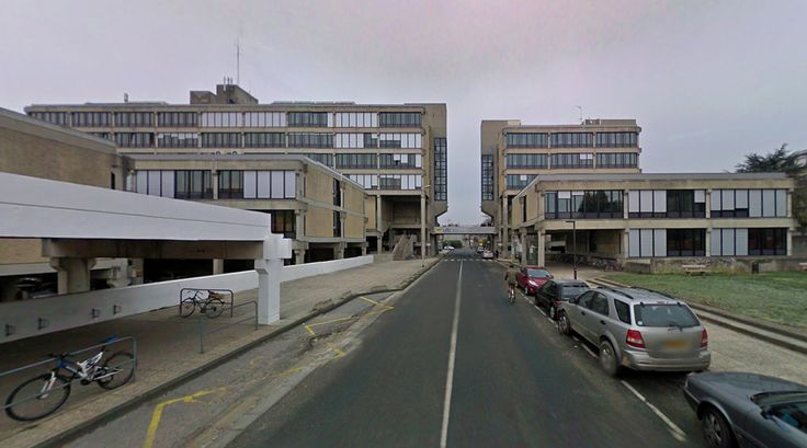 Centre Benjamin Franklin - Université de Technologie de Compiègne - 1975 by Adrien Fainsilber - #architecture #googlestreetview #googlemaps #googlestreet #france #compiègne #brutalism #modernism