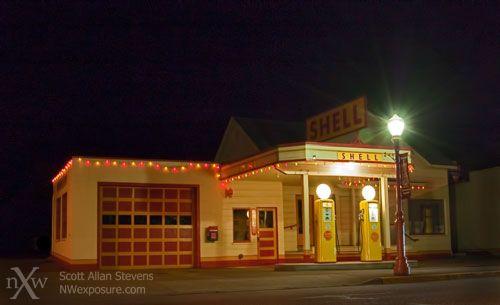 Retro Shell Station, Front Street Issaquah, Washington
