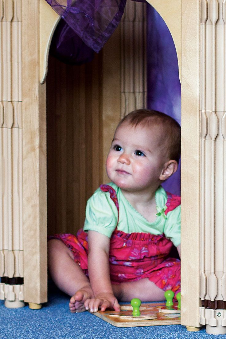 Young children love cosy corners, places where they can withdraw and feel secure.