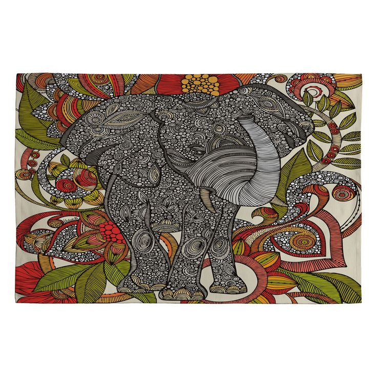 Valentina Ramos Bo The Elephant Woven Rug | DENY Designs Home Accessories