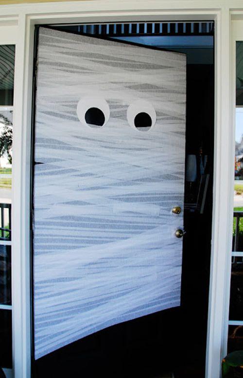 Diy Halloween Door Decor Halloween Autumn In 2018 Pinterest