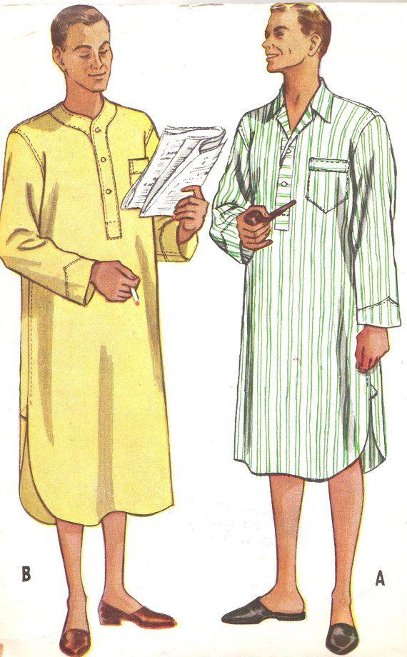 1950s Mens Nightshirt Pattern McCalls 9223 Mens by paneenjerez, $14.00