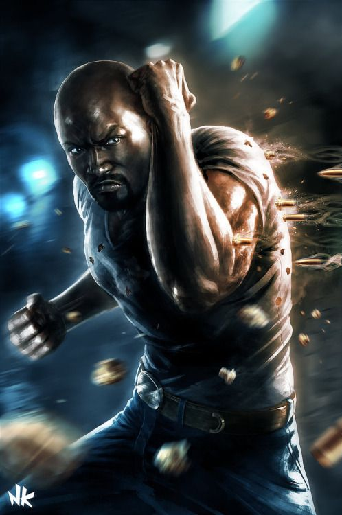 "extraordinarycomics: ""Luke Cage by Namkoart. """