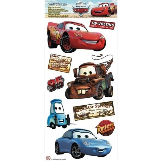 Disney - Cars/Bilar Wallies Wall Stickers