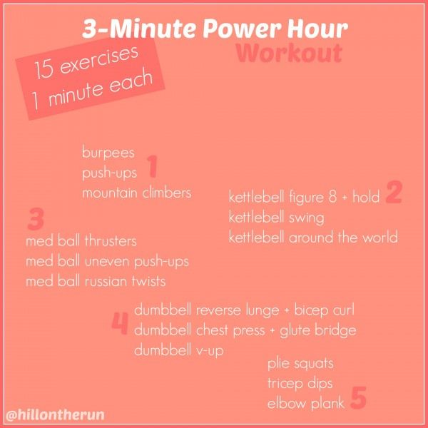 3 Minute Power Hour Workout