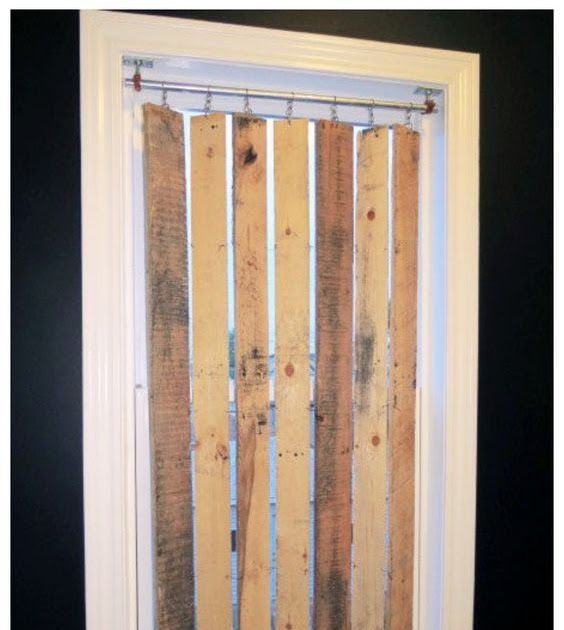 Picture Of Diy Pallet Wood Vertical Blinds