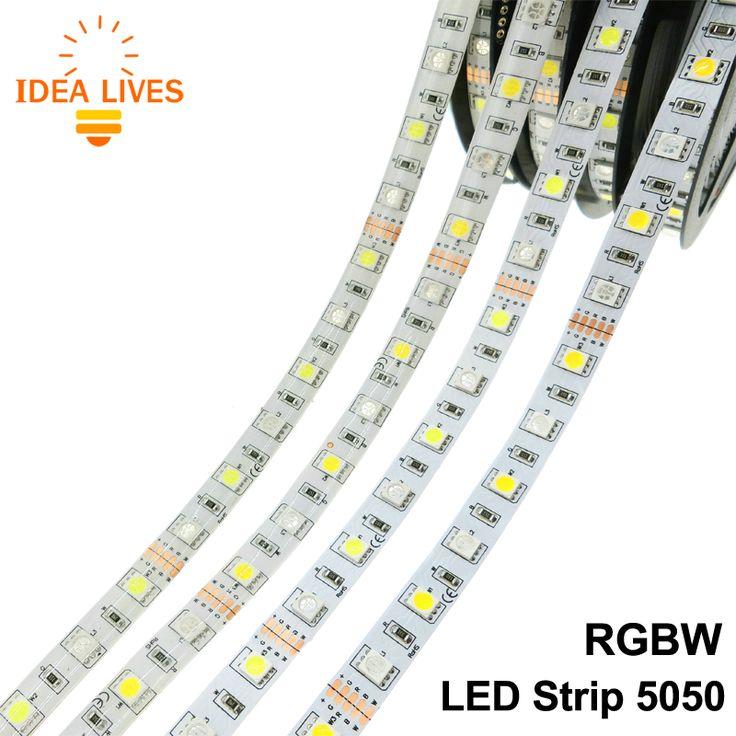 LED Strip 5050 RGBW Tahan Air DC12V Fleksibel DIPIMPIN Cahaya RGB + Putih/RGB + Hangat Putih 60 LED/m 5 m/lot.