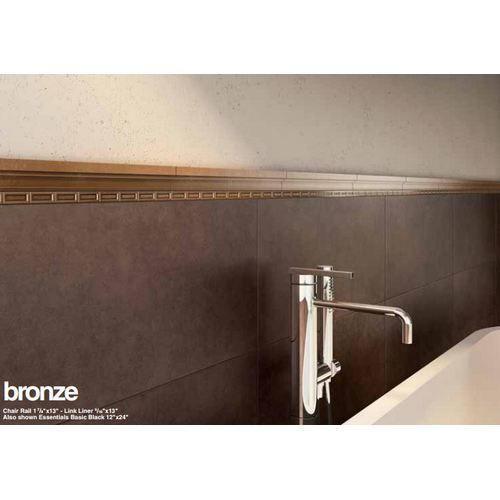 "Metal Mania 1-7/8"" X 13"" - Bronze Chair Rail"