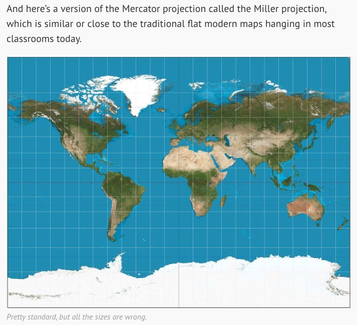 215 best earth maps images on pinterest maps cards and air some of us might already know that the world map isnt horribly accurate because it stretches a globe shape onto a flat surface but this video goes deep gumiabroncs Image collections