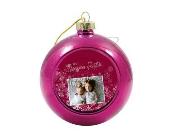 Palla di Natale in vetro colorato Buone feste