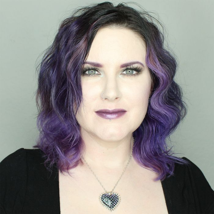Phyrra is wearing Fyrinnae Misfit Lipstick, Bunny Paige Paradise heart necklace and Cover FX foundation